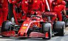 Charles Leclerc (MON) Ferrari SF1000 practices a pit stop.