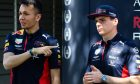 Alexander Albon (THA), Red Bull Racing and Max Verstappen (NLD), Red Bull Racing