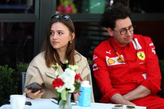 Charlotte Sine (MON) girlfriend of Charles Leclerc (MON) Ferrari. 12.03.2020. Formula 1 World Championship, Rd 1, Australian Grand Prix, Albert Park, Melbourne, Australia, Preparation Day. - www.xpbimages.com, EMail: requests@xpbimages.com © Copyright: Moy / XPB Images