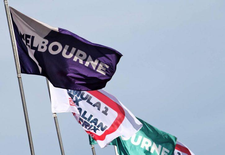 Circuit atmosphere - flags. 12.03.2020