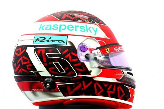 The helmet of Charles Leclerc (MON) Ferrari. 12.03.2020. Formula 1 World Championship, Rd 1, Australian Grand Prix, Albert Park, Melbourne, Australia, Preparation Day. - www.xpbimages.com, EMail: requests@xpbimages.com © Copyright: Batchelor / XPB Images