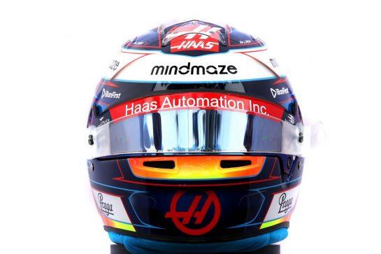The helmet of Romain Grosjean (FRA) Haas F1 Team. 12.03.2020. Formula 1 World Championship, Rd 1, Australian Grand Prix, Albert Park, Melbourne, Australia, Preparation Day. - www.xpbimages.com, EMail: requests@xpbimages.com © Copyright: Batchelor / XPB Images