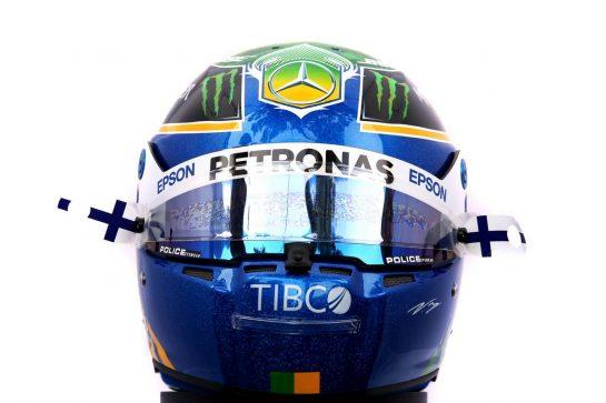The Australian GP helmet of Valtteri Bottas (FIN) Mercedes AMG F1. 12.03.2020. Formula 1 World Championship, Rd 1, Australian Grand Prix, Albert Park, Melbourne, Australia, Preparation Day. - www.xpbimages.com, EMail: requests@xpbimages.com © Copyright: Batchelor / XPB Images