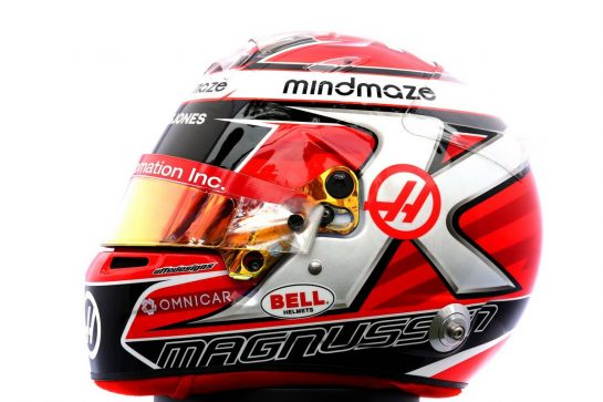 The helmet of Kevin Magnussen (DEN) Haas F1 Team. 12.03.2020. Formula 1 World Championship, Rd 1, Australian Grand Prix, Albert Park, Melbourne, Australia, Preparation Day. - www.xpbimages.com, EMail: requests@xpbimages.com © Copyright: Batchelor / XPB Images