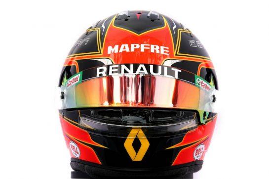 The helmet of Esteban Ocon (FRA) Renault F1 Team. 12.03.2020. Formula 1 World Championship, Rd 1, Australian Grand Prix, Albert Park, Melbourne, Australia, Preparation Day. - www.xpbimages.com, EMail: requests@xpbimages.com © Copyright: Batchelor / XPB Images