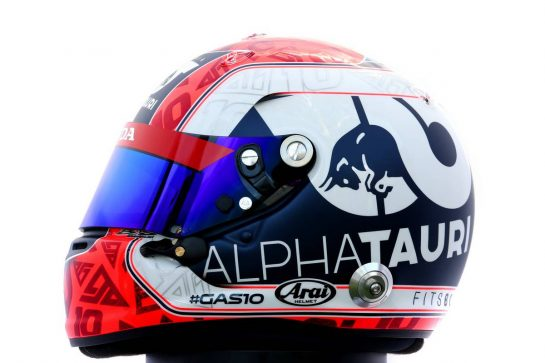 The helmet of Pierre Gasly (FRA) AlphaTauri. 12.03.2020. Formula 1 World Championship, Rd 1, Australian Grand Prix, Albert Park, Melbourne, Australia, Preparation Day. - www.xpbimages.com, EMail: requests@xpbimages.com © Copyright: Batchelor / XPB Images