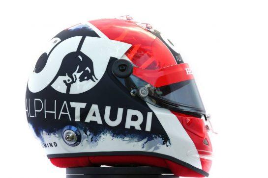 The helmet of Daniil Kvyat (RUS) AlphaTauri. 12.03.2020. Formula 1 World Championship, Rd 1, Australian Grand Prix, Albert Park, Melbourne, Australia, Preparation Day. - www.xpbimages.com, EMail: requests@xpbimages.com © Copyright: Batchelor / XPB Images