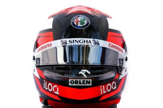 The helmet of Kimi Raikkonen (FIN) Alfa Romeo Racing. 12.03.2020. Formula 1 World Championship, Rd 1, Australian Grand Prix, Albert Park, Melbourne, Australia, Preparation Day. - www.xpbimages.com, EMail: requests@xpbimages.com © Copyright: Batchelor / XPB Images