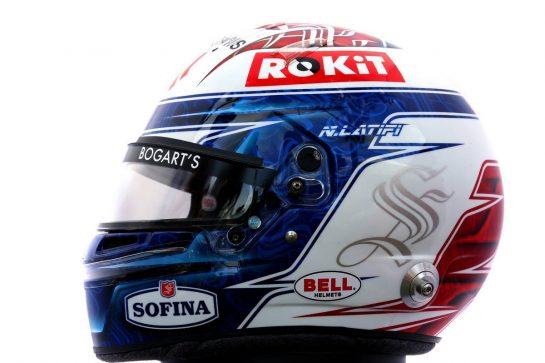 The helmet of Nicholas Latifi (CDN) Williams Racing. 12.03.2020. Formula 1 World Championship, Rd 1, Australian Grand Prix, Albert Park, Melbourne, Australia, Preparation Day. - www.xpbimages.com, EMail: requests@xpbimages.com © Copyright: Batchelor / XPB Images