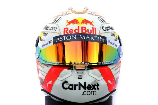 The helmet of Max Verstappen (NLD) Red Bull Racing. 12.03.2020. Formula 1 World Championship, Rd 1, Australian Grand Prix, Albert Park, Melbourne, Australia, Preparation Day. - www.xpbimages.com, EMail: requests@xpbimages.com © Copyright: Batchelor / XPB Images