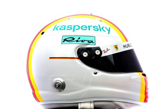 The helmet of Sebastian Vettel (GER) Ferrari. 12.03.2020. Formula 1 World Championship, Rd 1, Australian Grand Prix, Albert Park, Melbourne, Australia, Preparation Day. - www.xpbimages.com, EMail: requests@xpbimages.com © Copyright: Batchelor / XPB Images