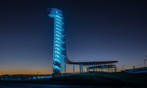 COTA turns on the blue lights for COVID-19 fighters