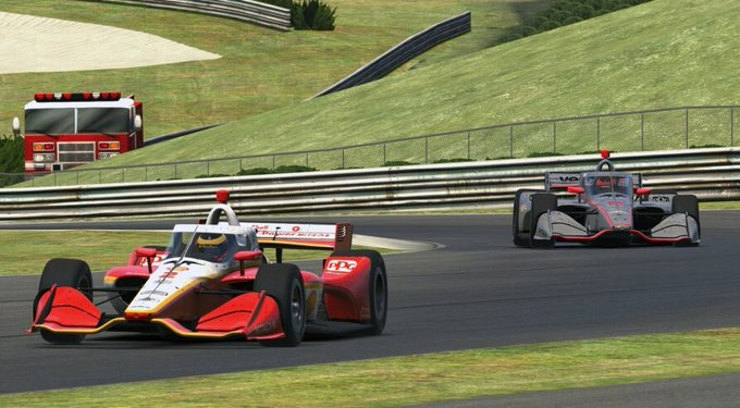 Virgin Australia Supercars champion Scott McLaughlin wins IndyCar iRacing race at Barber Motorsports Park.