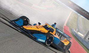 Norris spins and wins at COTA on IndyCar iRacing debut!