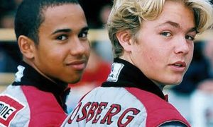 Rising stars Hamilton and Rosberg go karting - in 2000!