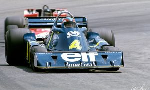 Tyrrell puts its six-wheeler on the road in Spain