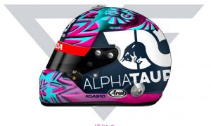 Gasly reveals winning helmet design for opening GP
