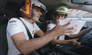 Sainz and Norris battle for epic onboard Milk Challenge!