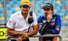 (L to R): Fernando Alonso (ESP) McLaren Test Driver with Carlos Sainz Jr (ESP) McLaren.