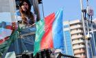 Circuit atmosphere - Azerbaijan flag. 28.04.2019.