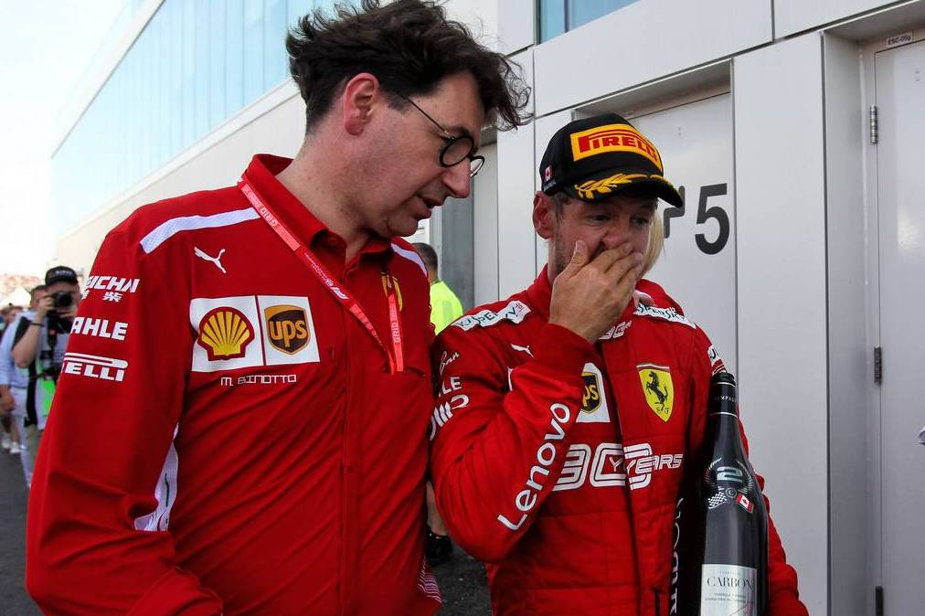 Binotto stands by decision to drop Vettel