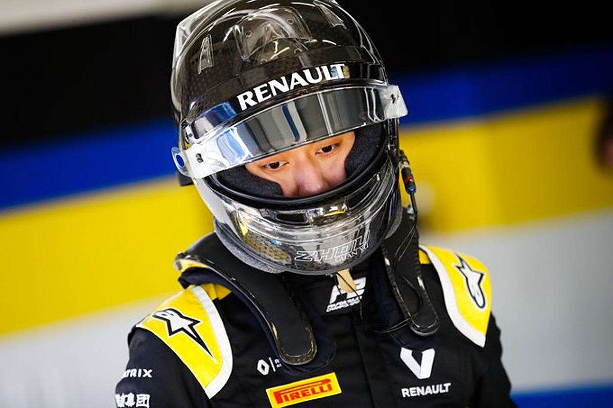 Guanyu Zhou, Renault F1 reserve driver 2020