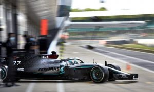 Mercedes' day of testing at Silverstone in pictures