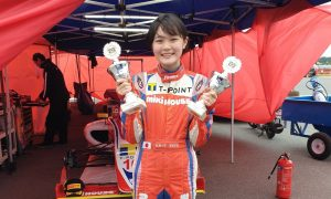 Teenage daughter of ex-F1 driver makes her mark!