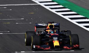 Red Bull in action at Silverstone but without Verstappen