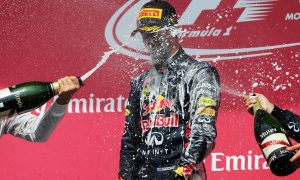 Danny Ric's maiden F1 champagne shower