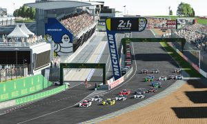 The Race Legends Trophy ROKiT Triple Crown Esports race at Le Mans on June 27 2020.