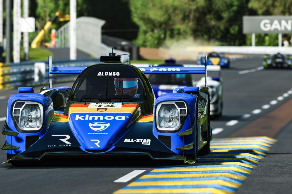 Fernando Alonso - The Race Legends Trophy ROKiT Triple Crown Esports race at Le Mans on June 27 2020.