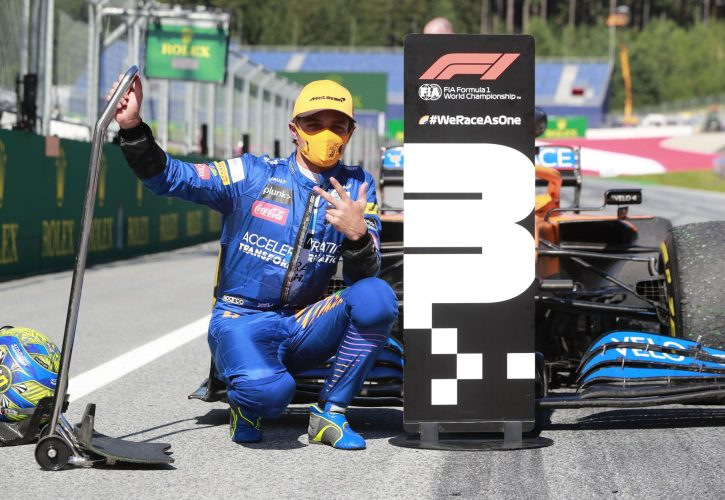 Britain's Norris scripts F1 history with podium finish in Austria GP
