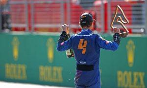"Norris scoops maiden podium despite fears he'd ""fudged it up"""