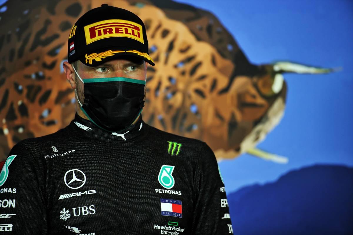 Race winner Valtteri Bottas (FIN) Mercedes AMG F1 in the post race FIA Press Conference.