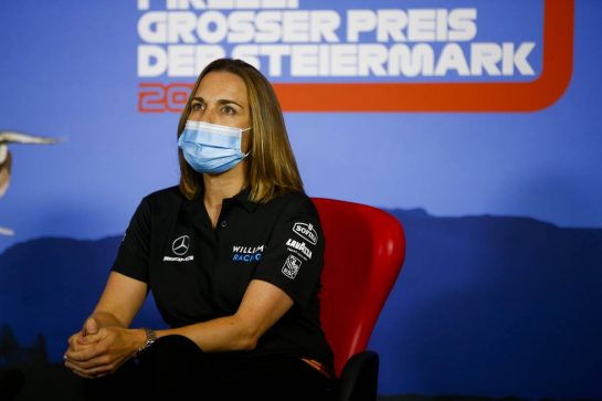 Claire Williams (GBR) Williams Racing Deputy Team Principal in the FIA Press Conference. 10.07.2020. Formula 1 World Championship, Rd 2, Steiermark Grand Prix, Spielberg, Austria, Practice Day. - www.xpbimages.com, EMail: requests@xpbimages.com - copy of publication required for printed pictures. Every used picture is fee-liable. © Copyright: FIA Pool Image for Editorial Use Only