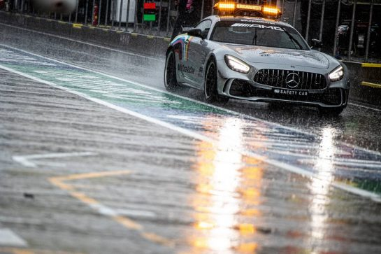 The FIA Safety Car as heavy rain falls in the third practice session. 11.07.2020. Formula 1 World Championship, Rd 2, Steiermark Grand Prix, Spielberg, Austria, Qualifying Day. - www.xpbimages.com, EMail: requests@xpbimages.com © Copyright: Bearne / XPB Images