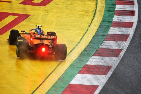 Lando Norris (GBR) McLaren MCL35 runs wide. 11.07.2020. Formula 1 World Championship, Rd 2, Steiermark Grand Prix, Spielberg, Austria, Qualifying Day. - www.xpbimages.com, EMail: requests@xpbimages.com © Copyright: Batchelor / XPB Images