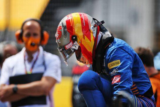 Carlos Sainz Jr (ESP) McLaren on the grid. 12.07.2020. Formula 1 World Championship, Rd 2, Steiermark Grand Prix, Spielberg, Austria, Race Day. - www.xpbimages.com, EMail: requests@xpbimages.com © Copyright: Charniaux / XPB Images