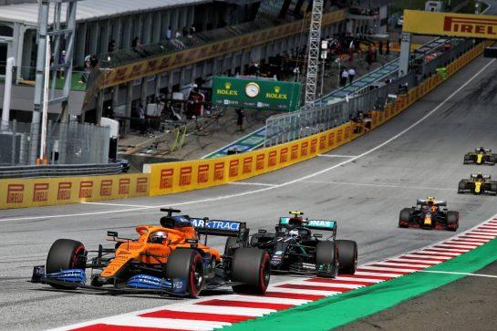 Carlos Sainz Jr (ESP) McLaren MCL35. 12.07.2020. Formula 1 World Championship, Rd 2, Steiermark Grand Prix, Spielberg, Austria, Race Day. - www.xpbimages.com, EMail: requests@xpbimages.com © Copyright: Batchelor / XPB Images