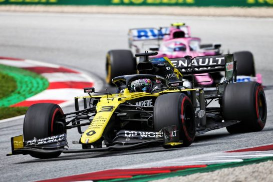 Daniel Ricciardo (AUS) Renault F1 Team RS20. 12.07.2020. Formula 1 World Championship, Rd 2, Steiermark Grand Prix, Spielberg, Austria, Race Day. - www.xpbimages.com, EMail: requests@xpbimages.com © Copyright: Charniaux / XPB Images