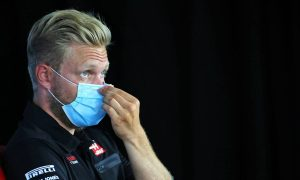 Kevin Magnussen (DEN) Haas F1 Team in the FIA Press Conference. 16.07.2020
