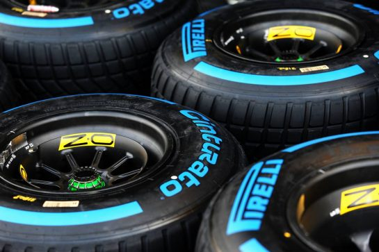 Renault F1 Team - Pirelli wet tyres.