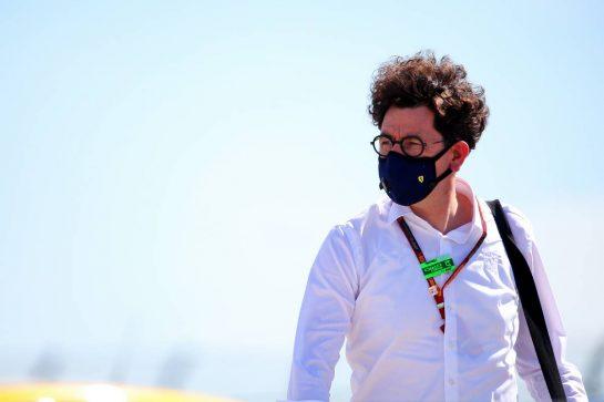 Mattia Binotto (ITA) Ferrari Team Principal. 30.07.2020. Formula 1 World Championship, Rd 4, British Grand Prix, Silverstone, England, Preparation Day. - www.xpbimages.com, EMail: requests@xpbimages.com © Copyright: Batchelor / XPB Images