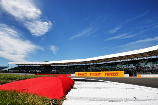 Circuit atmosphere - kerb detail. 30.07.2020. Formula 1 World Championship, Rd 4, British Grand Prix, Silverstone, England, Preparation Day. - www.xpbimages.com, EMail: requests@xpbimages.com © Copyright: Batchelor / XPB Images