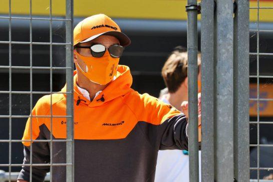 Lando Norris (GBR) McLaren. 30.07.2020. Formula 1 World Championship, Rd 4, British Grand Prix, Silverstone, England, Preparation Day. - www.xpbimages.com, EMail: requests@xpbimages.com © Copyright: Batchelor / XPB Images