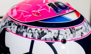 Gasly's beautiful tribute helmet to Anthoine Hubert