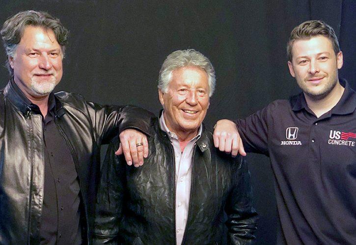 Andretti Autosports owner Michael Andretti, father Mario Andretti, and son Marco Andretti.