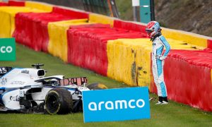 Russell thankful for halo in 'very scary' Giovinazzi crash