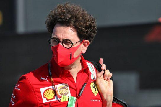 Mattia Binotto (ITA) Ferrari Team Principal. 07.08.2020. Formula 1 World Championship, Rd 5, 70th Anniversary Grand Prix, Silverstone, England, Practice Day. - www.xpbimages.com, EMail: requests@xpbimages.com © Copyright: Batchelor / XPB Images